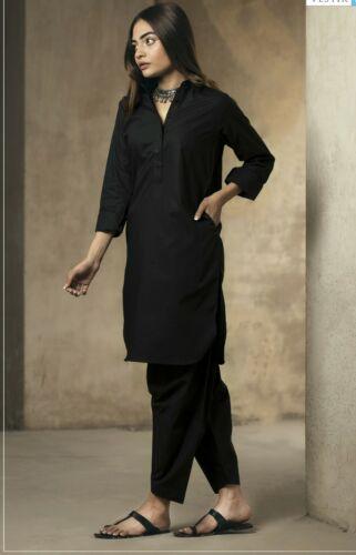 Fully Stitched Ladies Plain Black Salwar Kameez kurta suit muharram dress ashura