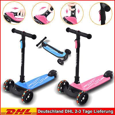 LED Dreirädriger Roller für Kinder Kickscooter Kinderroller Tretroller Scooter
