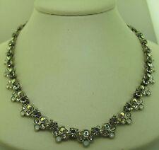 Sorrelli White Bridal Necklace NAQ20ASWBR Antique silver tone