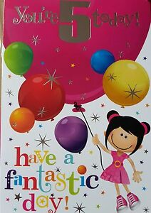 YOU-039-RE-5-TODAY-HAVE-A-FANTASTIC-DAY-BIRTHDAY-CARD-5th-birthday