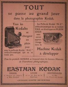 PUBLICITE-DE-PRESSE-1904-APPAREILS-KODAK-SE-CHANGENT-EN-PLEIN-JOUR-ADVERTISING