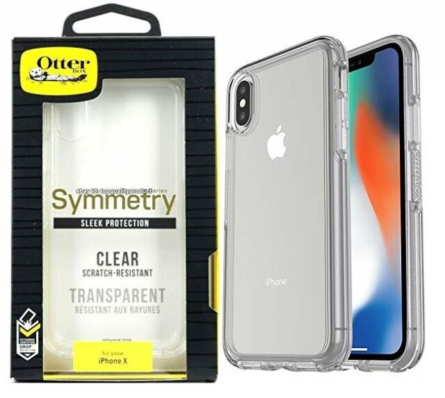 new product d18fe 6a566 OTTERBOX Symmetry Series Sleek Protection Case for iPhone X Clear Ho86