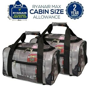 5-Cities-2019-Ryanair-40x20x25-Max-Size-Carry-on-Cabin-Holdall-Bag-Set-of-2