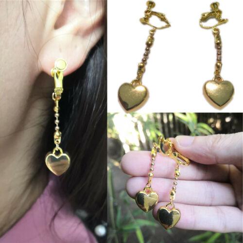 1 pair Earring HUNTER×HUNTER Hisoka Cosplay Golden Heart Cosplay Ear clip