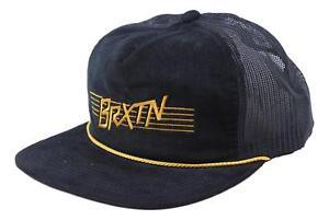 Image is loading Brixton-Mens-Hermosa-Hp-Mesh-Snapback-Hat-Black- e351b2e6f32b