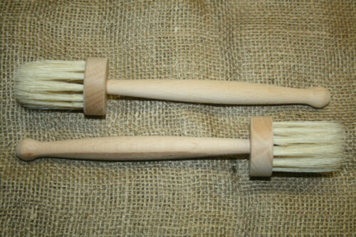 MERCE NUOVA 2 pennello BACK burro pennello per arma silenzioso gallerie pennello NATURALE CAPELLI legno
