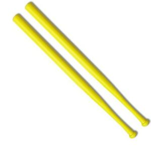 Wiffle® Ball Bats Official Brand Name Yellow Plastic Bat 2-Pack