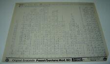 Microfich Ersatzteilkatalog VW Passat Typ 32B 32 B B2 B 2 Santana Stand 03/1982!