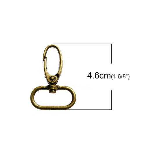 Antique Bronze Tone Key Rings and Dog Leashes FD484 4 Lobster Swivel Clasps