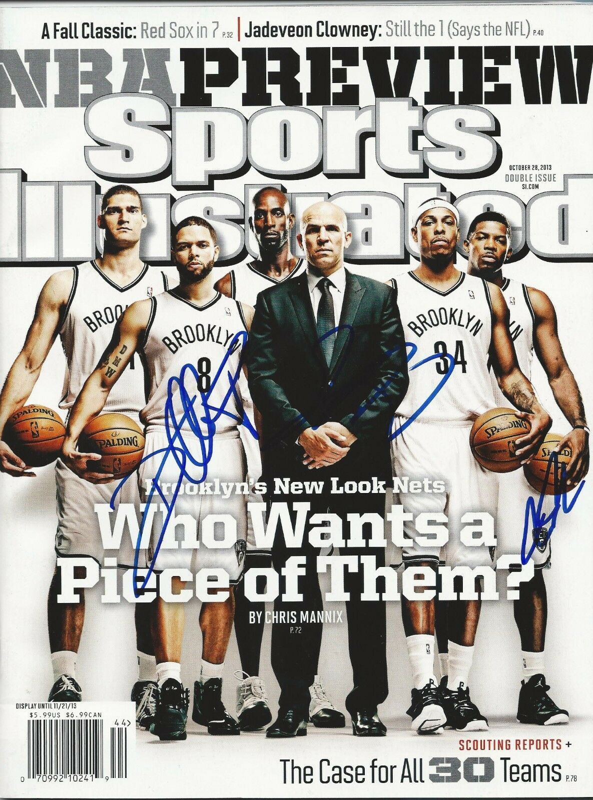 GFA Sports Illustrated 2014 Nets Enfantd Williams Signé si Revue AD1 Coa