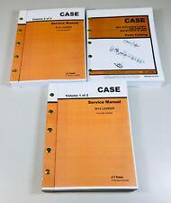 Case W 14 W14 Wheel Front Loader Service Repair Manual Parts Catalog Set