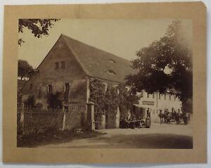 Original-Fotografie-Gasthof-Friedrichswalde-bei-Pirna-um-1890-Sachsen-sf