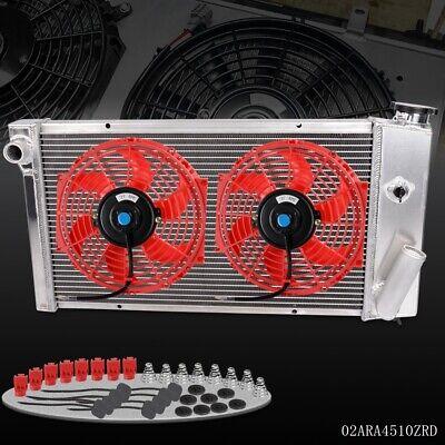 For 71-77 VEGA//75-76 ASTRE CHEVY SBC V8 SWAP Full Aluminum Racing Radiator