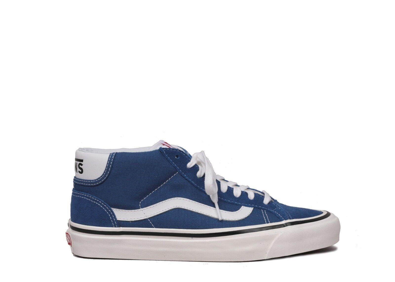 SALE  Uomo Vans Mid Factory Skool 37 DX Anaheim Factory Mid Blau Weiß SZ 6-13 NEW db8c02