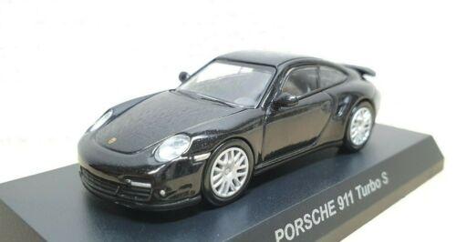 1//64 Kyosho PORSCHE 911 TURBO S BLACK diecast car model