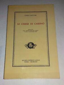 Le-chiese-di-Cassino-di-Carlo-Baccari-Societa-Editrice-Laziale-1972
