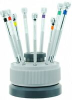Bergeon 5970 Watchmakers Mini Screwdriver Set Rotating Stand, Extra Blades