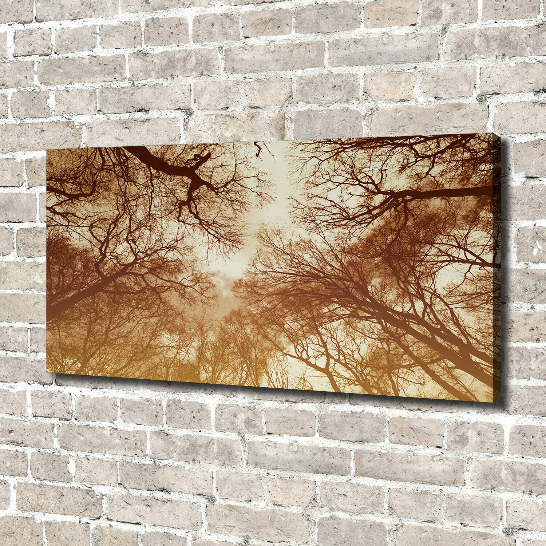Leinwandbild Kunst-Druck 140x70 Bilder Blaumen & Pflanzen Wald