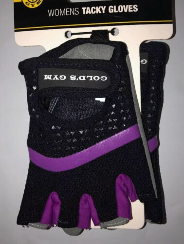 Gold/'s Gym Women/'s Tacky Gloves S//M Black and Purple NEW