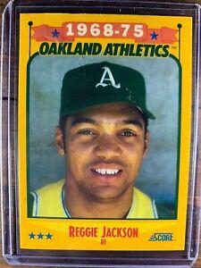 Reggie Jackson Baseball Card #500 Score Oakland Athletics MLB HOF Free Ship MINT