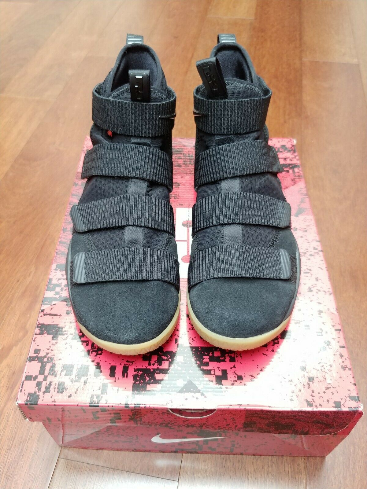 Nike Lebron Soldier XI  basketball shoes - Black Gum - Size 11.5 - 897644-007