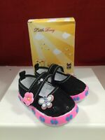 Little Berry Baby Toddler Girls Mary Jane Butterfly Sneakers Size 2 Pink Black