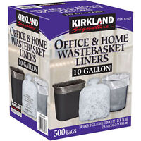 Kirkland Signature™ 10 Gallon Clear Wastebasket Liner 500 Count Free Shipping