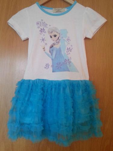 FROZEN Summer dress tutu girls children short sleeve Elsa girls