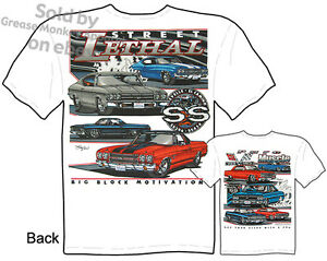 Chevy-SS-Chevelle-Shirts-SS-El-Camino-T-Shirt-Muscle-Car-Tee-Sz-M-L-XL-2XL-3XL