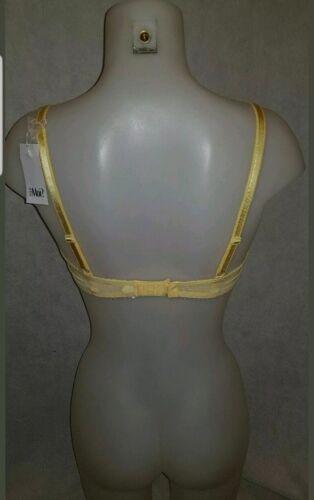 PM-1500 jaune dentelle pour moi /'Amour/' Rembourré Soutien-gorge baleiné soutien-gorge Taille 30D