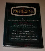 Sealed Norton Cd-rom Masterworks Interactive Guide History Anaylsis Appreciation
