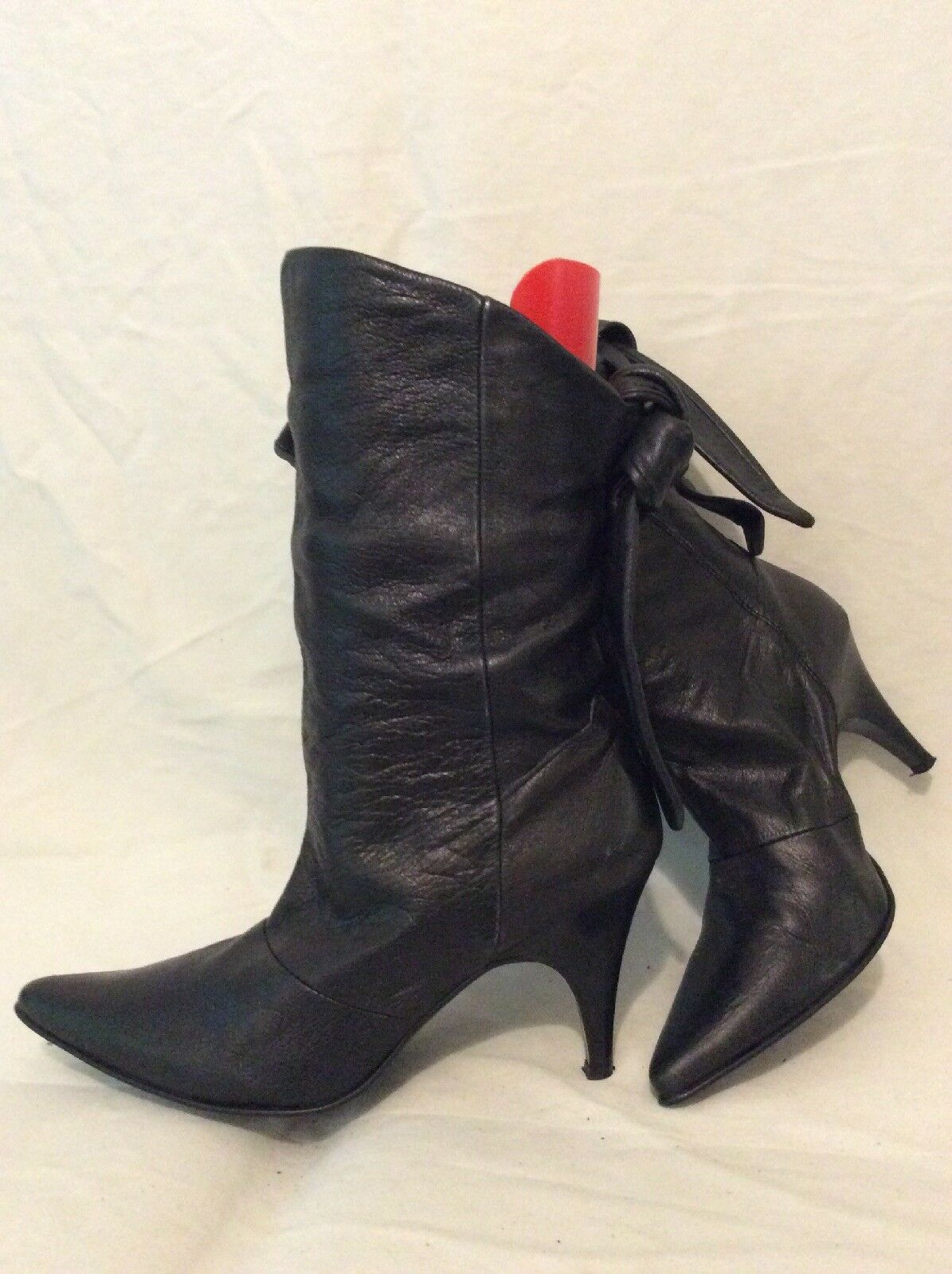 KG Black Mid Calf Leather Boots Size 40