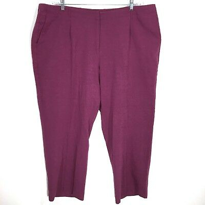 Emma James Woman Dress Pants Wine Burgundy Rayon Blend Womens Plus Size 20w Smoothing Circulation And Stopping Pains Pants