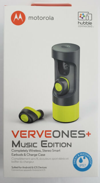 Motorola VerveOnes+ Wireless Bluetooth Waterproof Smart Earbuds Music Ed. Green