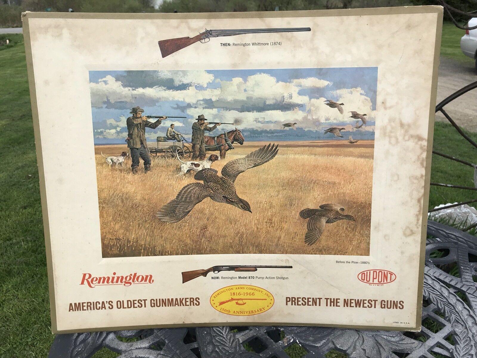 1966 Remington cartón Mostrador Publicidad, antes de que el arados 1880