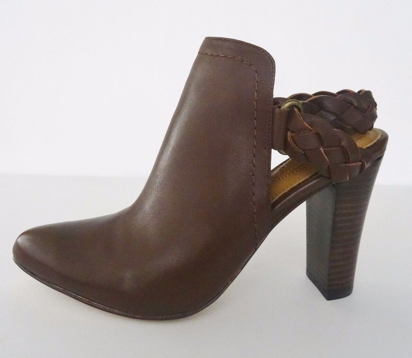 NIB Corso Como Williamsburg Braided Strap Bootie Heel  8.5 M Chestnut Braun 178