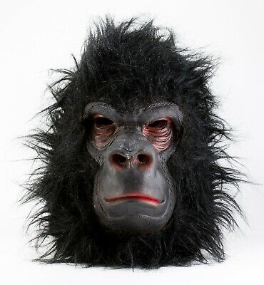 MEAN GORILLA Latex Full Hair Mask Halloween Costume