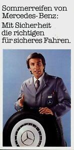 1498MB-Mercedes-Prospekt-Sommerreifen-1980-3-80-brochure-tires-broschyr