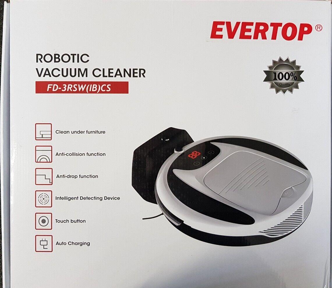 Robot aspirateur, evertop Robot Aspirateur Intelligent Maison Nettoyage...