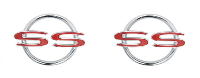 1962 Chevy Impala Rear Quarter Emblems with Fastners