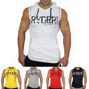 New-Men-Summer-Muscle-Sport-Hooded-Vest-Breathable-Sleeveless-Gym-Training-Suit
