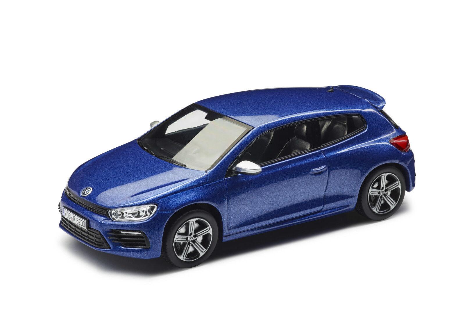 Original VW Model Car 1 43, SCIROCCO R, Rising bluee Metallic