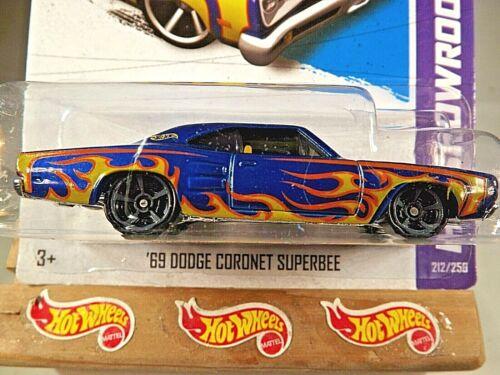 2013 Hot Wheels #212 Showroom-Heat Fleet '69 DODGE CORONET SUPERBEE Blue Variant