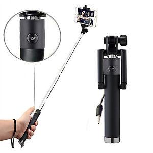 Allview-p43-Easy-Selfie-Stange-Stick-Ausloeser-AUX-Selfiestick-Schwarz
