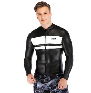 Men-039-s-3mm-Neoprene-Long-Sleeve-Wetsuits-Tops-Surf-Snorkeling-Jump-Dive-Suit-Tops