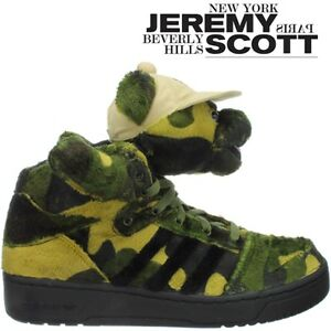 timeless design f7af5 ee233 Image is loading Adidas-JS-Camo-Bear-unisex-shoes-green-camo-