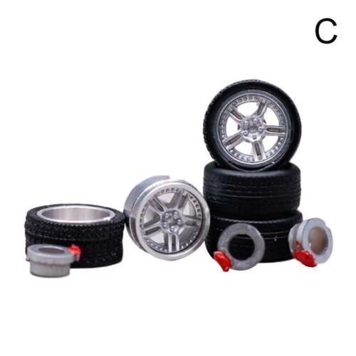 1//64 gummireifen 4 speichen schwarz felge fit Hot Wheels diecast cars CM-MODEL