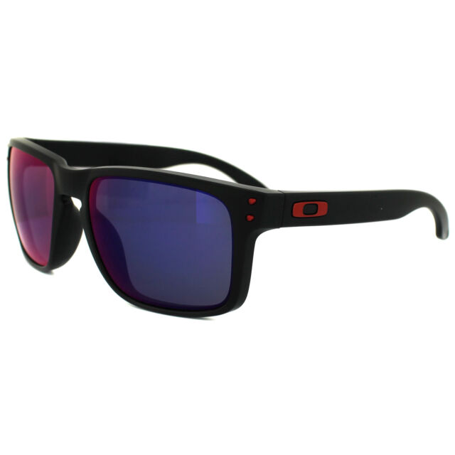 Oakley Sunglasses Holbrook OO9102-36 Matt Black Positive Red Iridium