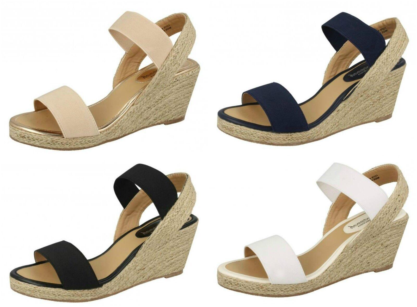 F2R270- Ladies Mule Savannah Wedge Rope Espadrille Mule Ladies Sandal 4 Colours- Great Price 7d6fcf