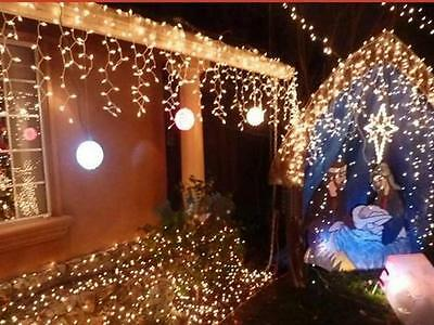 10M 100LED Warm White Xmas Party Christmas Decor String Fairy Wedding Light Lamp